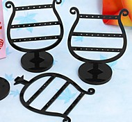 Fashion Plastic Goblet Jewelry Display Stand For Earrings (Black) (2pcs)