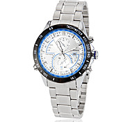 Men's All Matched Round Dial Plastic Band Quartz Analog Casual Watch (Assorted Color)