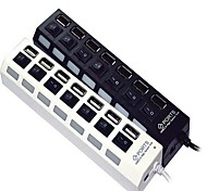 7-Port High Speed USB 2.0 Hub Independent Switch