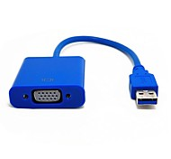 Details About  USB3.0 to VGA Female Multi-display Graphic Converter Card Display Cable Adapter