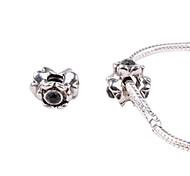 Black Alloy Whorled Big Hole DIY Beads For Necklace or Bracelet