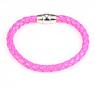 Moda 20 centímetros pulseira de couro rosa Liga das Mulheres (1 Pc)