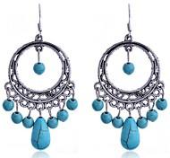 Drop EarringsJewelry Blue Alloy Daily