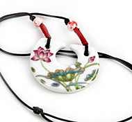 Black / Red Pendant Necklaces Fabric Party / Daily / Casual Jewelry