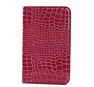 Krokodilkorn-Muster PU-Leder und Hard Back Cover Tasche für Samsung Tab 3 Lite T110 (verschiedene Farben)