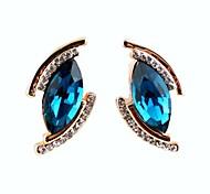 Resumo Deixa o formato dos olhos brincos de diamante para as Mulheres