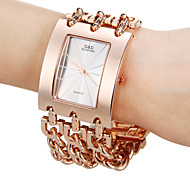 Men's Analog Rose Gold Square Dial Alloy Band Quartz Analog Fashion Watch