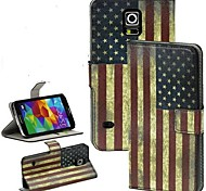 The Flag Series Flip Magnet Stand Leather Carry Case Cover Fit For Samsung Galaxy S5 I9600