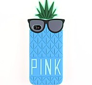 Pineapple And Glasses Silicone Soft Case for iPhone 4/4S (Optional Colors)