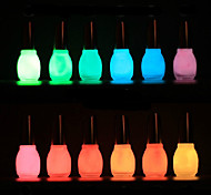 1PCS Laushine Luminous Noctilucent Fluorescent Nail Polish Glow in Dark Eco-Friendly(No.5-8,Assorted Colors)