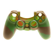 2 PCS Mushroom Caps and 2 PCS Red Thumb Stick Grips and 1 PC Silicone Case(Red Green)
