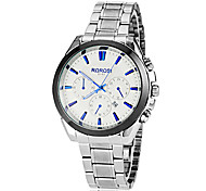 Men's Simple Round Dial Alloy Band Quartz Analog Wrist Watch Cool Watch Unique Watch
