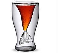 100ml Creative Mermaid Design Glass Cup