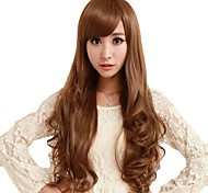 Roll Capless Side Bang Synthetic Stylish Long Wavy Wigs 3 Colors Available