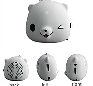 Mini altavoz portátil pequeño oso polar de alta calidad de sonido para iPod MP3 MP4