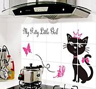 doudouwo ® животные черная кошка против нефть наклейки