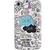 Special Pattern Full Body Case with Window for iPhone 4/4S(Slightly Different Clipping Design)