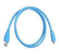 Cable USB 3.0 para Samsung N9000 Nota 3 y disco duro