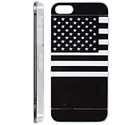 US Flag Pattern LED Flash Light Color Changing Back Cover for iPhone 5/5S