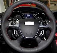 Xuji ™ véritable couverture de volant en cuir noir pour 2012 2013 Ford Kuga bref 3 ford
