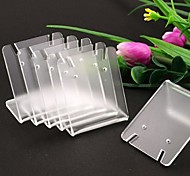 Fashion Plastic Small Rectangle Jewelry Display Stand For Rings (Clear) (10pcs)