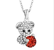 Fashion (Animal) Silver Alloy Pendant Necklace(Navy,Green,Red,Yellow) (1 Pc)