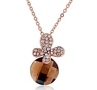 Fashion  Alloy Crystal Butterfly Pendant Necklace