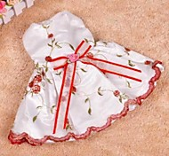 élégante fleur coupé robes de bownot pour les chiens de compagnie (taille assortis)