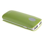 ARUN PB21 5600mAh multi-sortie batterie externe pour appareil mobile (vert)