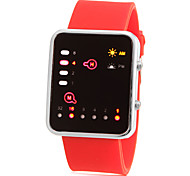 Women's Binary Display LED Digital Silicone Band Wrist Watch (Assorted Colors)