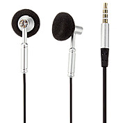 Co-Crea EV519 High Quality In-Ear Headphone with Mic for iPhone/Samsung/PC(Silver)