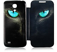 Gato Leather Case Ojo de cuerpo completo para Samsung Galaxy S4 Mini I9190