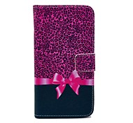 Rose Leopard Print And Butterfly Knot Pattern PU Leather Full Body Case for Samsung S5 I9600