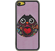 Lovely Ethnic Look Bird with Red Heart Pattern Shimmering PC Hard Case for iPhone 5C