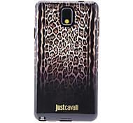 Gradiente patrón de la piel del leopardo de Brown Rampa Anti-Shock Volver Funda suave para Samsung Galaxy Nota 3 N9000