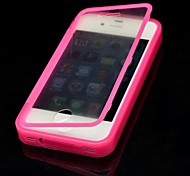 Solid Color with Touch Screen Full Body Case for iPhone 4/4S