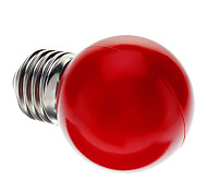 0.5W E26/E27 LED Globe Bulbs G45 7 Dip LED 50 lm Red Decorative AC 220-240 V