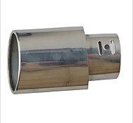 A153 Stylish Iron Car Exhaust Pipe Muffler Tip - Silver