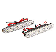 Alta calidad 5050 8 SMD LED luces de circulación diurna llevada arriba brillante impermeable DRL LED Car Fog Lights
