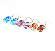 European BLUELOVER Assorted Color Acrylic Drop Earrings(Blue,Brown,Purple) (1 Pair)