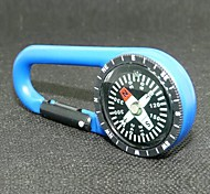 Outdoor Portable Plastic Carabiner  Compass - Blue