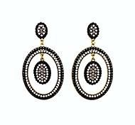 2014 New Design Hot Sale 2 Circle Wholesale Gemstone Earrings