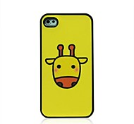 Yellow Deer Pattern Dull Polish Hard Case for iPhone 4/4S