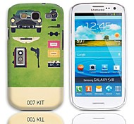 007 Kit Design Hard Case with 3-Pack Screen Protectors for Samsung Galaxy S3 I9300