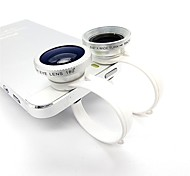 Universale 3-in-1 Fisheye + grandangolare + lente macro per Ipad / Iphone + More - Bianco