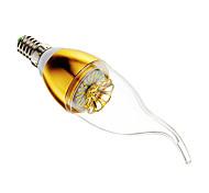 Lâmpada Vela Regulável E14 3 W 60-200 LM 6000-7000 K Branco Frio 30 SMD 3014 AC 220-240 V