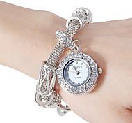 Da Mulher Diamante Vintage Round Dial Liga Banda Quartz Analógico Moda Watch (cores sortidas)
