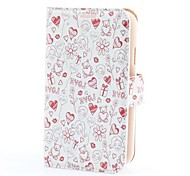 Love Icons Style PU Leather Case with Card Slot and Stand for Samsung Galaxy Grand Duos i9082