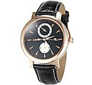 Herren Business-Art-Leder-Band Quarz-Armbanduhr (verschiedene Farben)