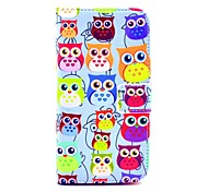Colorful Owl Pattern PU Leather Case with Money Holder Card Slot for Samsung Galaxy S3 I9300